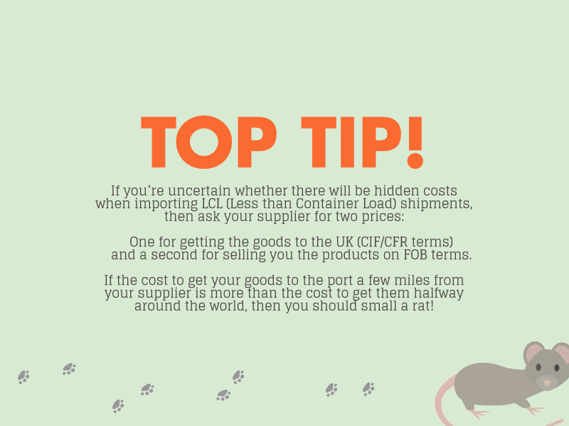 top tip for minimising hidden costs when importing