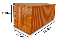 shipping containers sizes which size do i need 40ft container 20ft shippo. Black Bedroom Furniture Sets. Home Design Ideas