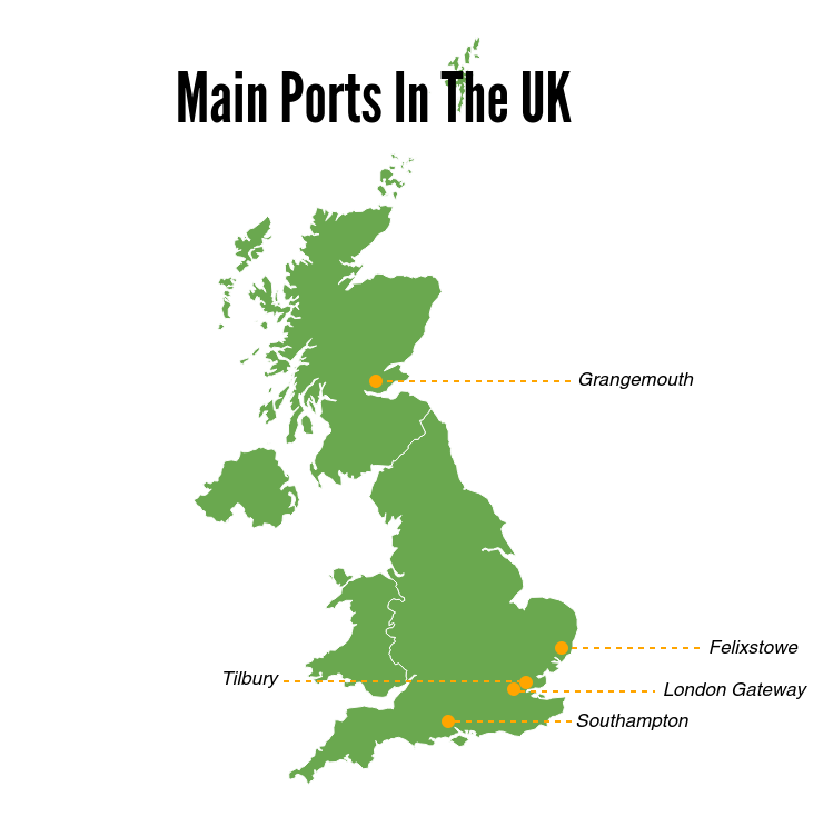 What ports do you ship to in the UK UK Ports ie UK Container