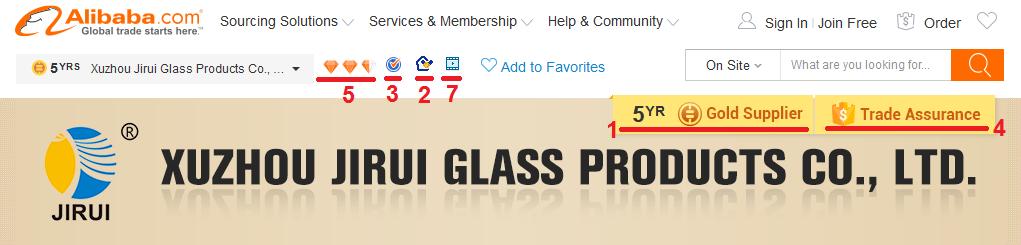 Alibaba Trustworthy Supplier Profile